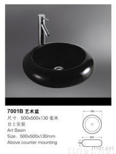 ceramic sanitary ware wash basin  colored basin 7001B  cabinet basin