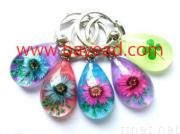Real natural flower Keychains