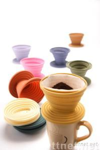 Silicone houseware:collapsible coffee dripper