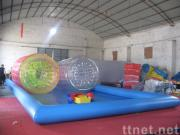 water pool and zorb ball