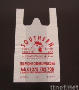 t-shirt bags,vest carrier,plastic shopping bags,vest carrier bag
