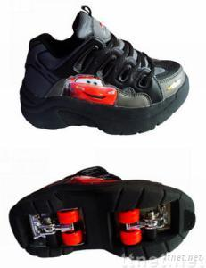 Flying shoes with four-wheels
