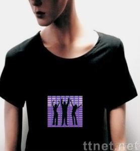 EL T-shirt,EL Animated Panel T-shirt,EL Panel T-shirt,EL Flash T-shirt