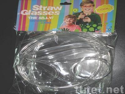 Glasses Drink Straw