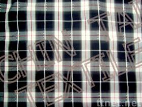 格子縞の綿織物