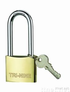 M-thick Brass Padlock(long shackle,super polish)