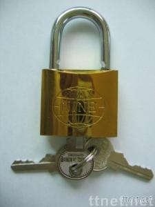 New Golden Plated Iron Padlock