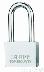 Square Blade Iron Padlock with Long Shackle