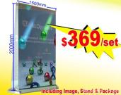 N-203 Widest screen Double-sided Pull-up Stand
