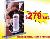 N-202 Widest screen Single-sided Pull-up Stand