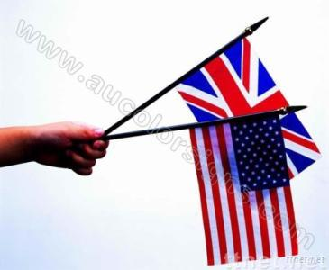 Hand Waving Flag