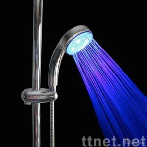 led changing color shower head