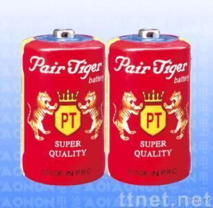 Pair Tiger LR20P Zinc Carbon Battery