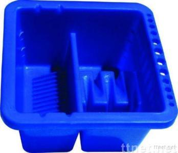ECS25107-Brush Washer, Plastic Brush Washer, Artist Brush Washer, Washer, Blue Brush Washer