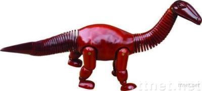 ECS18158, Dinosaur Manikin, Animal Manikin, Wooden Dinosaur Manikin, Wooden Manikin