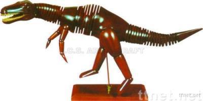 ECS18160, Dinosaur Manikin, Animal Manikin, Wooden Dinosaur Manikin, Wooden Manikin