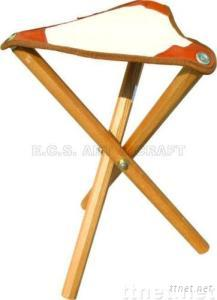 ECS16156, Stool, Wooden Stool, Canvas Wooden Stool, Canvas Stool, Artist Canvas Stool