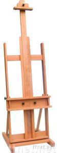 ECS16158, Mobile Studio Easel, Artist Easel, Wooden Studio Easel