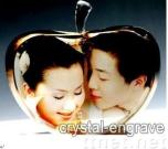 Personalize 3d Laser Engraving,crystal souvenir,Valentine's Day gift