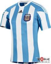 Uniforme del balompié de la Argentina de la taza de mundo del fútbol de Suráfrica