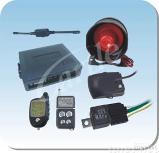FM two way car alarm system with non-rechargeable battery