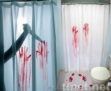Printed Acrylic Bath Mat with Curtain