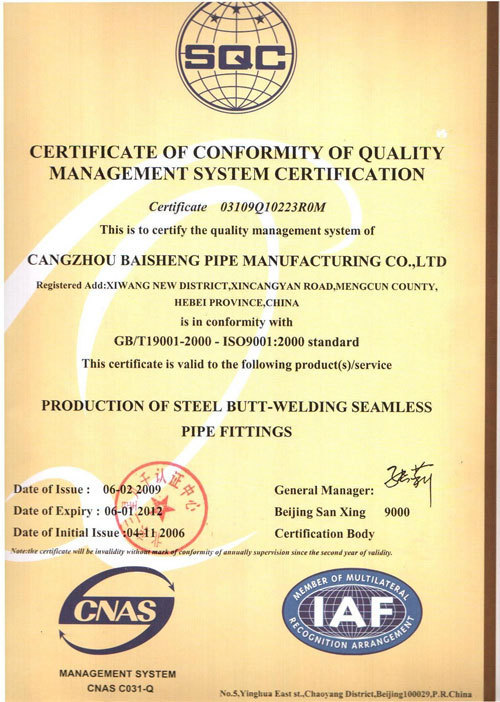 Cangzhou Baisheng Pipe-Fittings Manufacturing Co., Ltd.