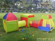 5 in 1 combo play tent with 50pcs colors balls