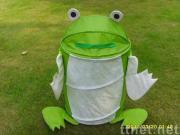Round frog shape storage bins