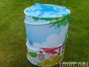 Round storage bin