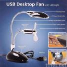 USB Desk Light with Fan