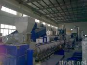 PET bottle flakes recycling,washing and pelletizing machine