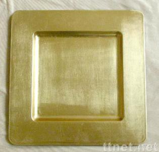 Plastic Square Charger Plate Gold Plastic Charger Plate Decorative Plate & Plastic Square Charger Plate Gold Plastic Charger Plate Decorative ...