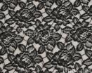 Black-flower Lace Fabric
