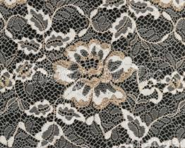 Nylon Metallic Lace Fabric