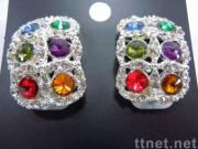 Fashion Colorful Rhinestones Earrings