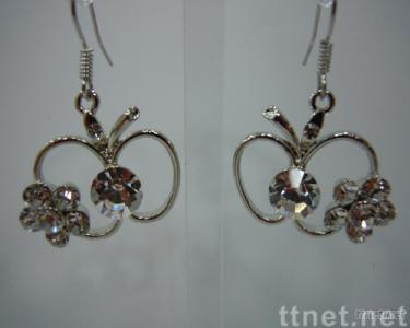 Flower-shaped Rhinestones Earrings