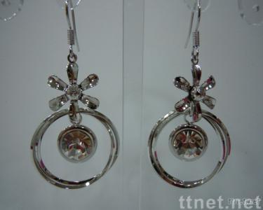 Fashion round-shaped zircon earring