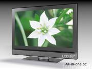 all in one computer with tv function 26 inch lcd, all in one lcd pc tv