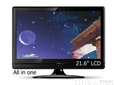 all in one pc with tv function 21.6 inch, all in one lcd pc tv