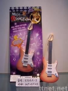 toy guitar, toy mini guitar, cartoon toy guitar, electronic toy guitar, plastic toy guitar, toy musical instru