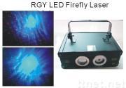 130mW,200mW RGY+Led firefly laser show equipment+DMX lighting display system