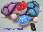 Remote control projector turtle musical toy