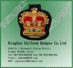 Garment accessory,Embroidery patches,Bullion Wire Badge - Royal Crown