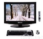 19/22inch all in one lcd pc tv,touch pc
