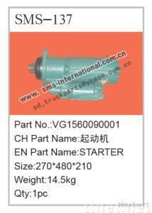 howo truck parts-starter VG1560090001