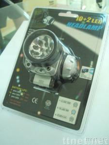 10 + 2 LED Headlamp