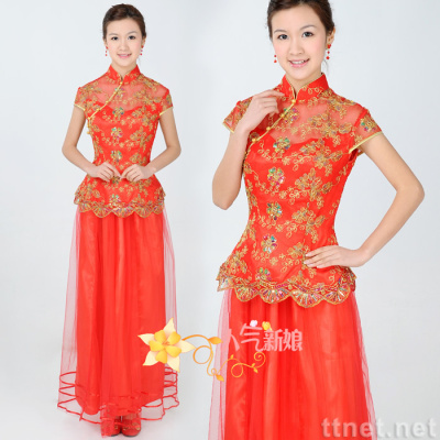 Dress Model Term on Mainland  Tang Suit  Cheong Sam In Bridal Gowns   Wedding Dresses