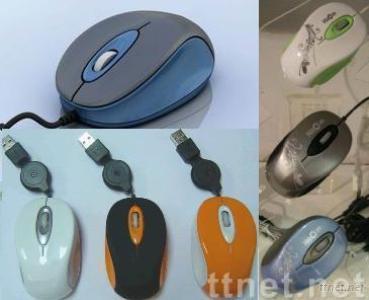 Optical Retractable Mini Mouse