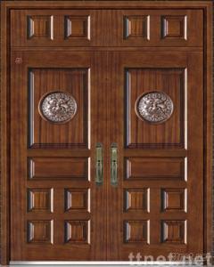 steel-wooden armored door(SR901CO)